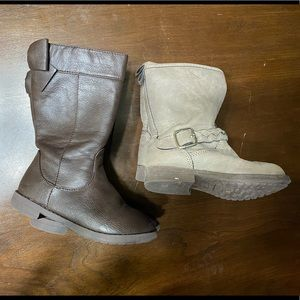 2 pairs of Toddler girls boots size 8
